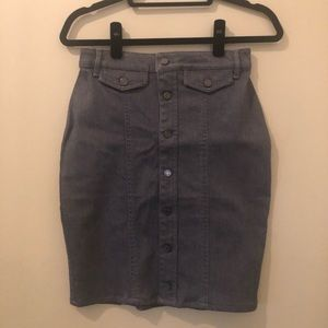 Banana Republic Grey Jeans Skirt